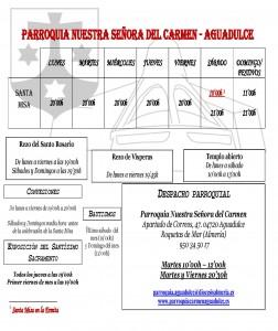 Planning Verano. Julio y Agosto